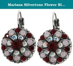 "Mariana Silvertone Flower Blossom Crystal Earrings, ""True Romance"" Red AB Pink 1029 2300. About Mariana Jewelry: Mariana believes what music is to the ear, color is to the eye. Her exquisite creations make the woman who wears them glow with confidence and love for life. Since 1997, her exuberant sense of color and unexpected fusion of old and new, crystal and stone, material and spirit, have been the very heart and soul of her creative vision. Mariana jewelry is made with components as..."