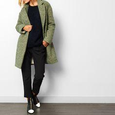 Wool Drape Coat - Pomandère