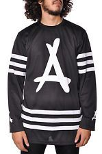 Tha Alumni Mesh Jersey Shirt Long Sleeve Fashion Top Mens Casual Apparel Black