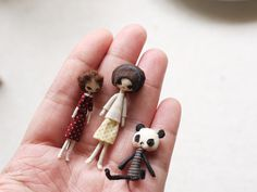 the tiny people. #handmade #panda #doll #cloth #doll