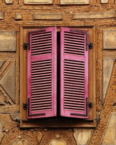 Window With Pink Shutters In Colmar France Photograph