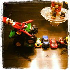 Elf on the Shelf idea - monster truck Elf
