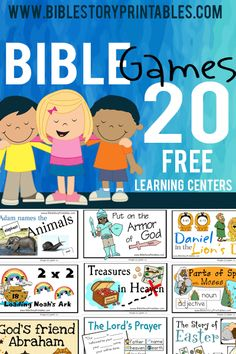Free Bible Games, Christian File Folder Games. These games are for children in K-5 grade levels, and all come with a key bible theme. File Folder Games are great for children of all ages. To make a file folder game you will need a basic manila file folder, scissors, glue and game pieces.