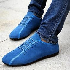 Mens Lace Up Suede Sneakers