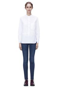 Pocket mans shirt from Pre AW2014 Victoria Beckham's Denim collection. #BoFCareers #denim #luxury #fashion