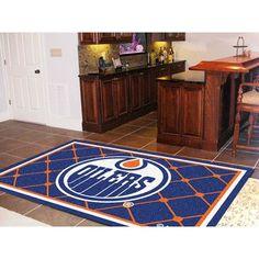 FANMATS NHL - Edmonton Oilers 5x8 Rug Rug Size:
