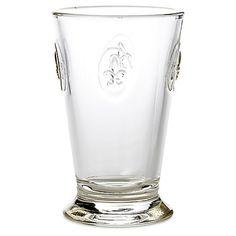 S/6 Fleur-de-Lis Iced-Tea Glasses