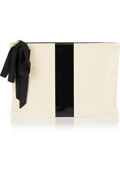 Coated leather clutch #accessories #women #covetme #clarev