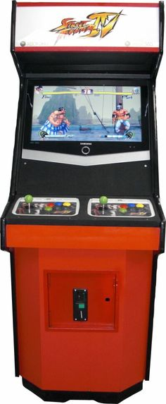 The Street Fighter arcade game on Figg's side of the office. (book 3)