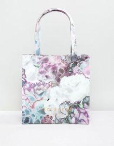 Ted Baker – Kleine Tasche mit Logo und Blumenmuster