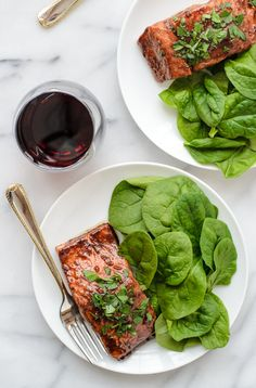 Romantic Balsamic Glazed Salmon for Two