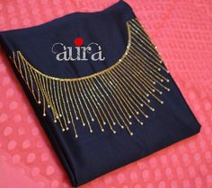 Best 12 Whatsapp on 9496803123 to customise – SkillOfKing. Embroidery On Kurtis, Hand Embroidery Dress, Kurti Embroidery Design, Embroidery Neck Designs, Aari Embroidery, Bead Embroidery Patterns, Embroidery Works, Salwar Neck Designs, Churidar Designs