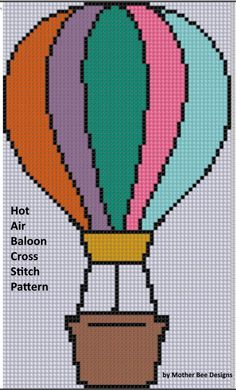 Hot Air Balloon 2 Cross Stitch Pattern | Craftsy