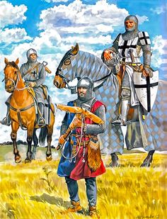 1330 Brother sariant (sergeant), brother-knight and mercenary Teutonic Knights approx. 1330