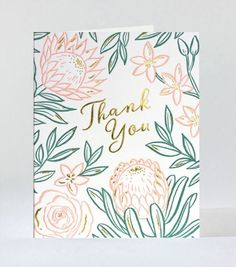 Bloom Thank You Letterpress Greeting Card. Card Making Inspiration, Making Ideas, Thank You Greeting Cards, Handmade Thank You Cards, Greeting Cards Handmade, Thank You Card Design, Card Drawing, Thanks Card, Card Envelopes