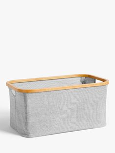 John Lewis & Partners Bamboo Rim Storage Basket at John Lewis & Partners