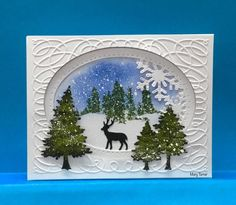 Winters here! by jandjccc - Cards and Paper Crafts at Splitcoaststampers Homemade Christmas Cards, Christmas Cards To Make, Homemade Cards, Christmas Crafts, Christmas Wrapping, Christmas Christmas, Xmas Cards Handmade, Handmade Christmas, Card Making Inspiration