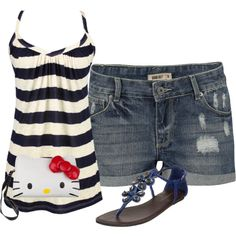 Cute Beach Outfit, created by jesslynnheath on Polyvore