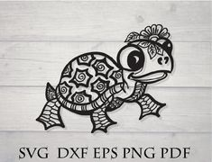 SVG files for cricut, mandala and zentangle animals dxf by ZigiDesignStudio Mandala Animal, Mandala Turtle, Cricut Vinyl, Svg Files For Cricut, Vinyl Decals, Zentangle, Turtle Silhouette, Flower Svg, Mandala Drawing