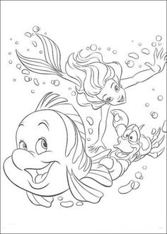 Coloring Pages of Ariel The Little Mermaid Picture 14 550x770 Picture
