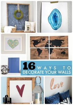 16 Ways to Decorate Your Walls! So many great ideas at Tatertots and Jello