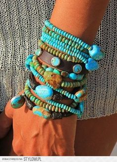 Charm Stack Brit West: Turquoise Bracelet StackTurquoise (disambiguation) Turquoise is a gemstone. Turquoise may also refer to: Bohemian Jewelry, Beaded Jewelry, Handmade Jewelry, Beaded Bracelets, Stack Bracelets, Leather Bracelets, Diamond Bracelets, Pandora Bracelets, Pandora Jewelry