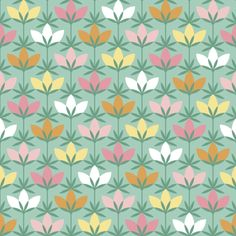circle 8 arc flower 1x5 fabric by sef on Spoonflower - custom fabric