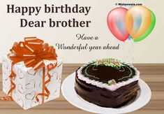 birthday greetings for brother birthday wishes for brother Happy Birthday Brother Cake, Birthday Greetings For Brother, Happy Birthday Dear, Happy Birthday Images, Birthday Greeting Cards, Birthday Pictures, Happy Birthday Bhai Quotes, Birthday Wishes Poems, Birthday Ideas