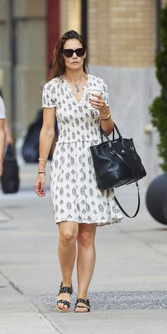 Katie Holmes's Street Style Takes the Summer Frock to New Heights ...