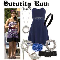 Sorority Row #SororityRow #JamieChung #ClaireWen Sorority Row, Jamie Chung, Eddie Borgo, Ryan Michael, Luxury Fashion, Formal Dresses, Polyvore, France, Outfits