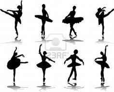 ballerina silhouette for ballerina snowflakes