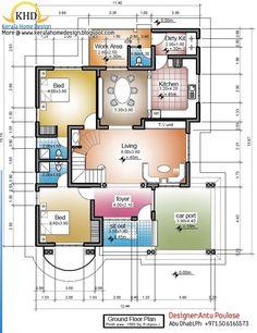 House plan 1500 square feet model house plans sq ft new sq foot home plans home House Plans Mansion, Duplex House Plans, House Layout Plans, Bungalow House Design, Bedroom House Plans, Dream House Plans, Small House Design, Small House Floor Plans, Home Design Floor Plans