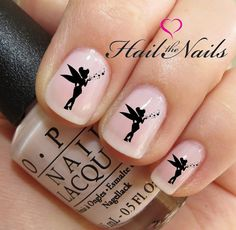 Nail Art Water Transfer Decal Tinkerbell Fairy por Hailthenails