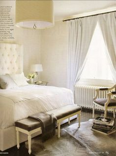 love how clean & soft this bedroom is