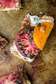 Heirloom Tomato and Ricotta Tart with a Cornmeal Almond Crust (Gluten-Free) – Salted Plains