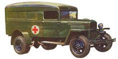 Санитарный автомобиль ГАЗ-55 (1942г.)