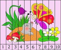 Kindergarten Math Activities, Autism Activities, Preschool Worksheets, Fun Math, Preschool Activities, Games 4 Kids, Le Puzzle, Free Printable Art, Math Numbers