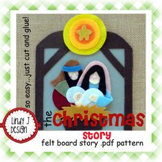 The Christmas Story Bible Flannel/ Felt Board .PDF Pattern. // Can't wait to make this.