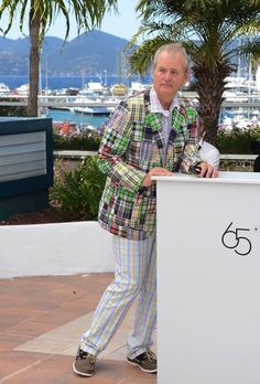 Bill Murray Acts Like a Boss at Cannes:  Makes an entrance - like a boss. Poses - like a boss. Walks the red carpet - like a boss.