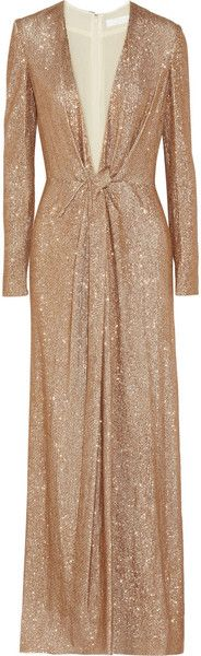 CHLOE Sequined Georgette Gown - Lyst