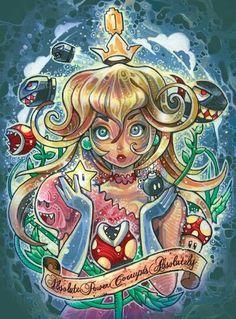 Tim Shumate's Princess Toadstool illustration