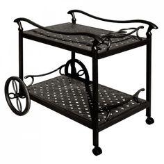 Cast Aluminum Serving Cart