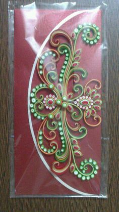 Quilling, envelope.