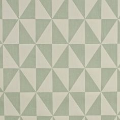 One Meter Geometric Triangles Green And Off White Home D Cor Fabric