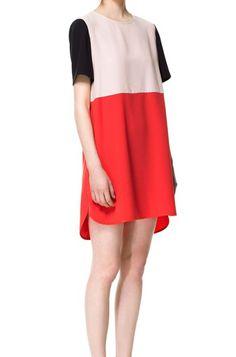 Color block Split Dress