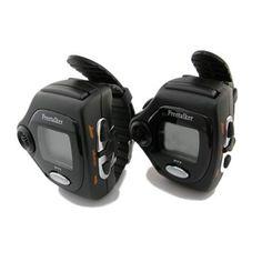 1.1 Inch LCD Rechargeable Fashion 2-Way Radio Watch Walkie Talkie Set - Black