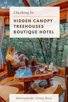 Checking In: Hidden Canopy Treehouses Monteverde, Costa Rica - Popovers and Passports Unique Hotels, Beautiful Hotels, Best Hotels, Amazing Hotels, Beautiful Bedrooms, Monteverde, Honduras, Travel Goals, Travel Tips