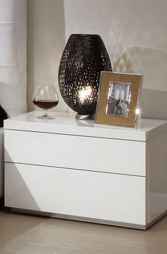 Athens Nightstand, White by At Home USA   SohoMod.com