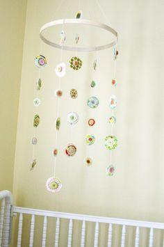 Simple Embroidery Hoop Mobile