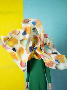 Rambutan scarf / Marimekko S/S 14 - muslin alternatives